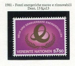 19320) United Nations (Vienna) 1981 MNH Energy