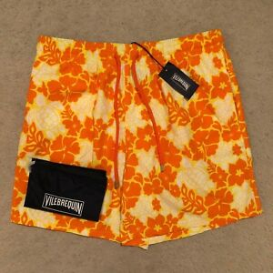 fca739c5aedbd Image is loading Vilebrequin-Moorea-Hawaiian-Turtles-Swim-Shorts-Citron-RRP-