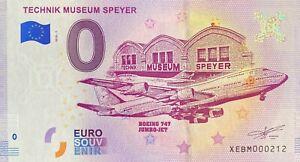 BILLET-0-EURO-TECHNIK-MUSEUM-SPEYER-ALLEMAGNE-2018-N-PALINDROME-212