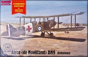 Roden-436-1-48-De-Havilland-D-H-9-Ambulance-British-double-biplane-WWI