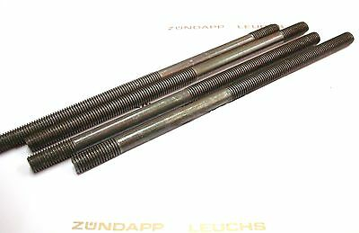 Zündapp Zylinder Stehbolzen 4 Stück M7 x 140mm KS 80 WC 530 K 80 540 537