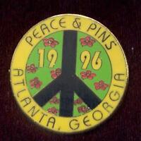 1996 Atlanta Olympic Peace & Pins Pin Trader Trading Peace Sign Lapel Pin Yellow
