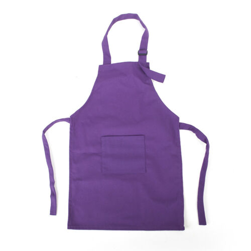 Opromo Cotton Canvas Kids Artist Aprons with Pocket 1-3 Years Old
