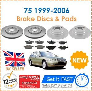 For-Rover-75-All-Models-1999-2006-Front-amp-Rear-Brake-Discs-amp-Pads-New
