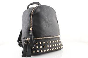 codice promozionale 1d5df 65338 Dettagli su Zaini zainetti donna con borchie borchiati zaino borsa nero  rosa beige rosso