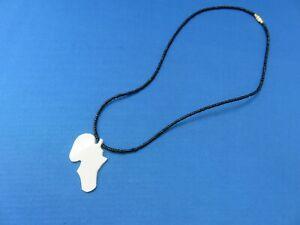 Map of Africa bone yak earrings