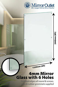 Bathroom Mirror Glass With Polished Edges 6 Holes 8ft X 4ft 4mm