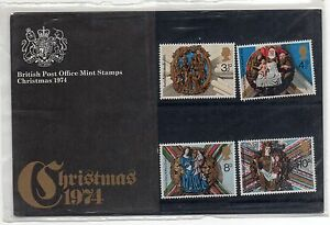 GB-1974-Christmas-Presentation-Pack-VGC-Stamps-Free-postage