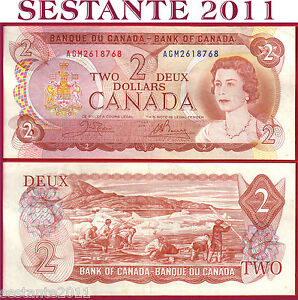 CANADA  2 DOLLARS 1974   -  Sign Crown  & Bouey  -  P 86b  -  SPL++ / XF++