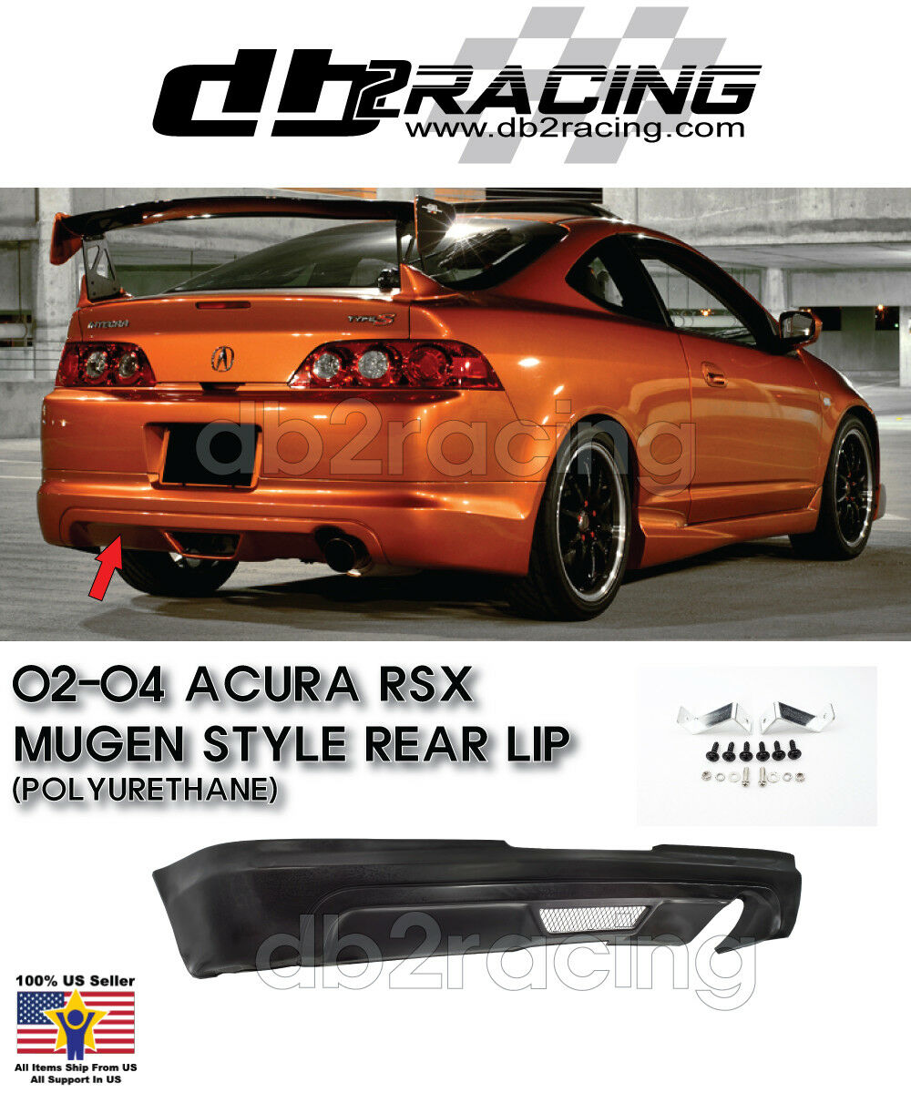 Fits 02-04 Acura RSX 2dr TR Style Rear Bumper Lip TR Style Front Urethane