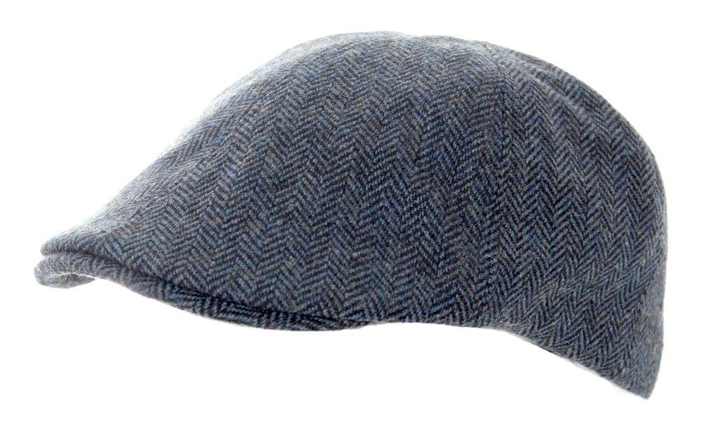 Heritage Traditions Mens Fashion Outdoor Blue Tweed Herringbone Tweed Blue Cap Hat b8931b