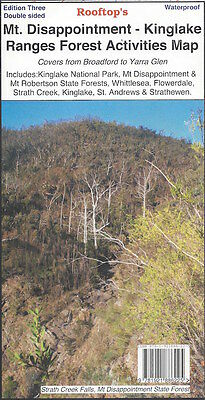 Rooftop Mt Disappointment - Kinglake Ranges Map *FREE SHIPPING - NEW*