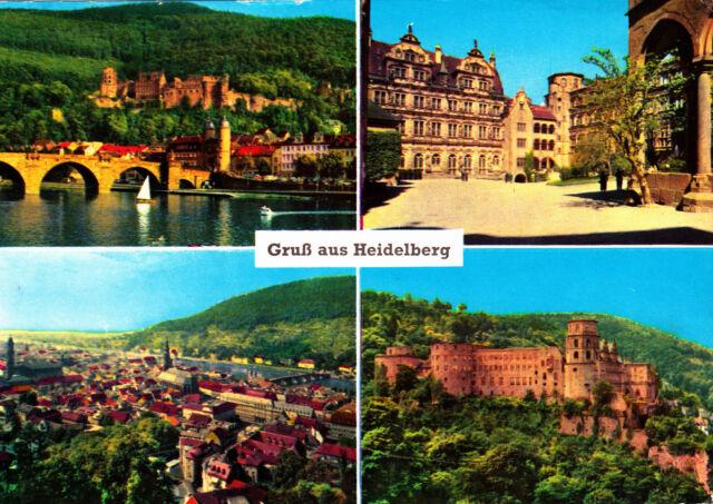 Gruß aus Heidelberg ; Ansichtskarte 1963 gel.