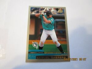 2000 topps traded miguel cabrera rookie card t40