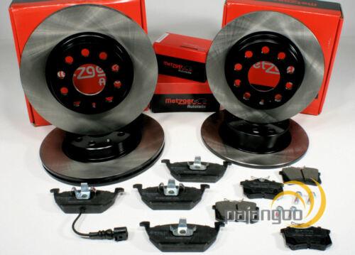 Skoda Octavia 1Z Metzger Bremsscheiben Bremsen Beläge für vorne hinten