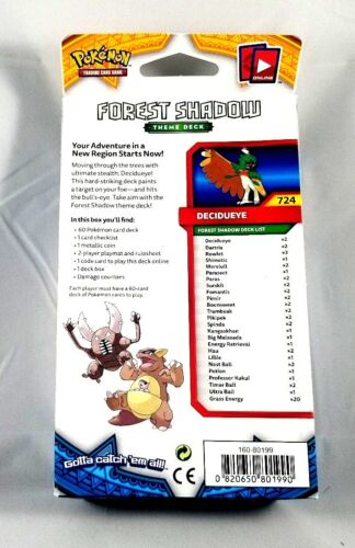 NEW Pokemon Trading Card Sun Moon Forest Shadow Theme Deck SEALED FREE SHIPPING