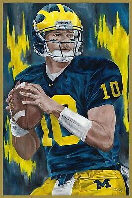 POSTER 24x36 Tom Brady Michigan Art Wall Indoor Room Outdoor Poster