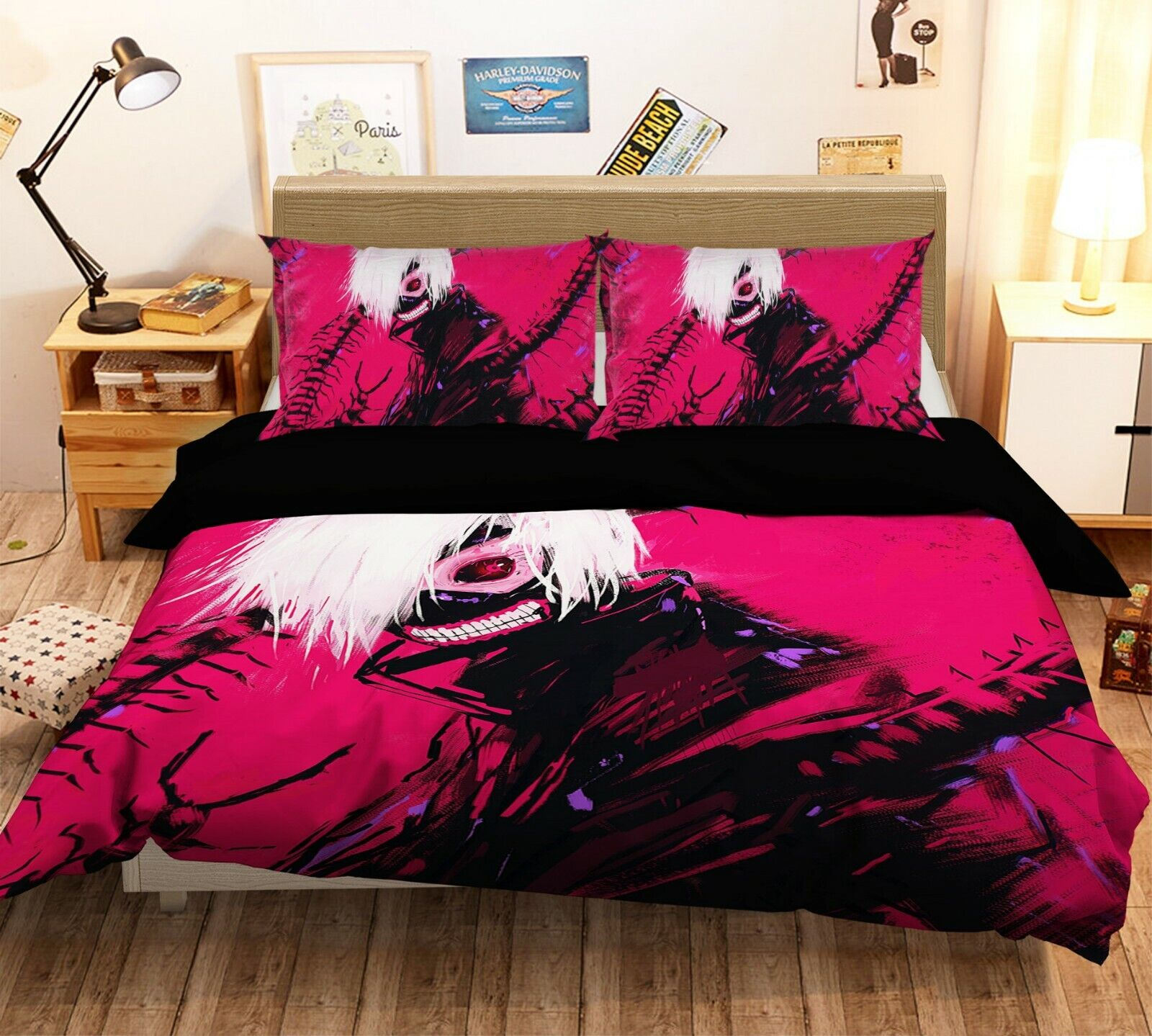 3D Tokyo Ghoul Vampir I700 Japan Anime Bed PilFaiblecases Duvet Cover Quilt Ang
