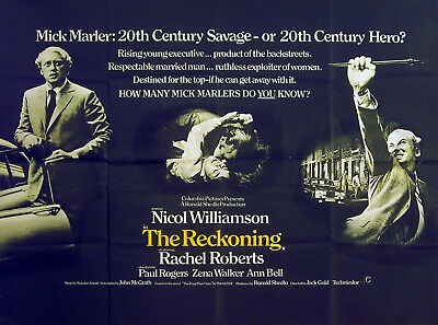 RECKONING 1969 Nicol Williamson, Rachel Roberts, Paul Rogers UK ...