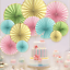 thumbnail 60 - Pinwheel Cut Out Wall Paper Fans Wedding Birthday Party Decoration Baby Shower