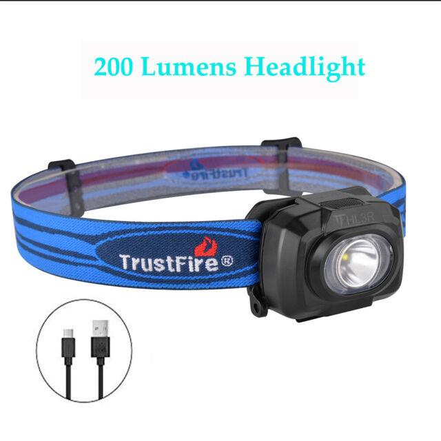 TrustFire HL3R 200LM USB Headlight Lamp Flashlight Tactical Headlamp for Reading