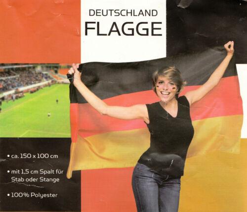 Fahne DEUTSCHLAND Flagge Flaggen Fahnen 150 x 100 cm mit Spalt für Stab