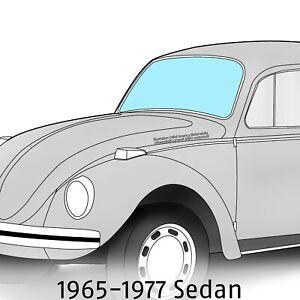 VW VOLKSWAGEN BEETLE SEDAN DOOR WINDOW GLASS 1965-1977 STANDARD /& SUPER