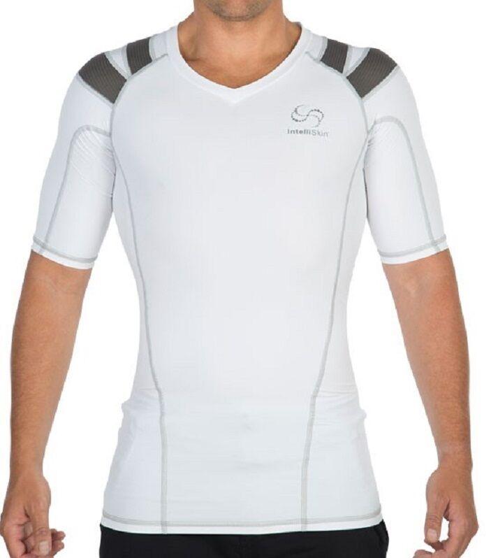 INTELLISKIN Men's Foundation Tee 3X-LARGE w  PostureCue WHITE Model 34006 31152