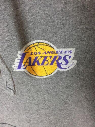 Nba Angeles capuche à Womens Overhead Retro Sweat Lakers Usa Grey Vintage Los IpEnq