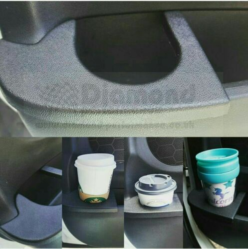 ,Black Textured ABS. SET Left/&Right Hand side CITROEN DS3 Cup Drinks Holder
