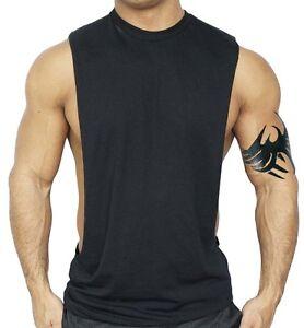 harmonious colors hot product 2019 real Details about Men's Black Workout Vest Tank Top bodybuilding gym muscle  fitness football shirt