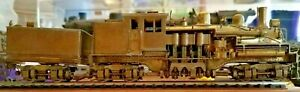 OLDER-HO-SCALE-BRASS-UNITED-3-TRUCK-SHAY-LOCO-AND-TENDER-IN-GOOD-COND-IN-OB