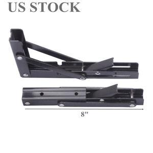 Details about 2X Black Paint Steel Folding Table Bracket 8