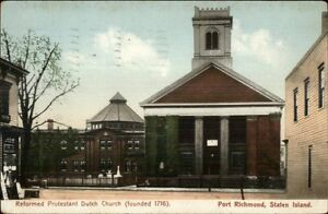 Port-Richmond-State-Island-NY-Dutch-Church-c1910-Postcard