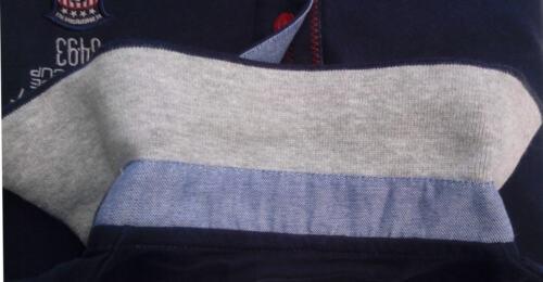 MAGLIA POLO UOMO M L XL XXL 3XL 100/% cotone manica lunga blu BeBoard jersy