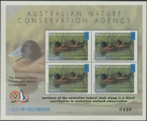 Australia-Cinderella-Ducks-1996-Taipei-Exhibition-Blue-billed-Duck-MS-MNH