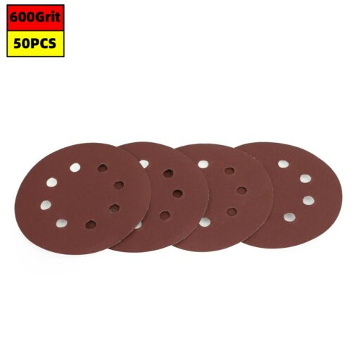 125mm 5 inch Sanding Discs 40-2000 Grit for Orbital Sander Loop Sandpaper UK