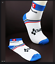 thumbnail 1 - Authentic-WHITE-AND-BLUE-SHIMANO-PRO-CYCLING-SOCKS-FREE-SHIPPING