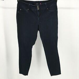 Torrid-Denim-Jegging-Skinny-Jeans-3-Button-Stretch-Dark-Wash-Blue-Womens-Plus-18