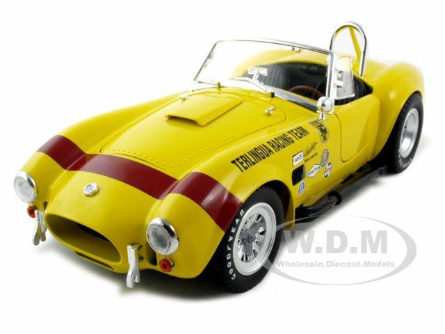Nuevos productos de artículos novedosos. 1965 Shelby Cobra 427 Sc Terlingua Terlingua Terlingua Amarillo 1 18 De Shelby Collectibles sc127  promociones de equipo