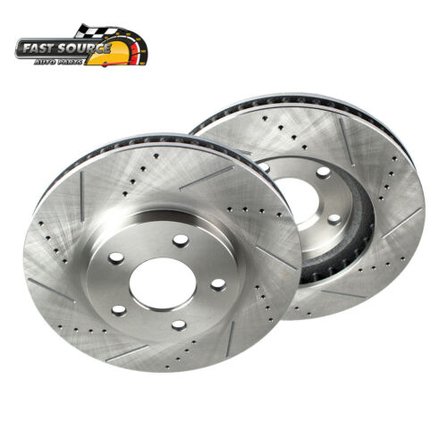 For S-10 Blazer Pickup Envoy Jimmy Sonoma Bravada Front Drill Slot Brake Rotors