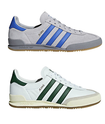 ADIDAS JEANS CASUAL TRAINERS in GREY/BLUE & WHITE/GREEN- FREE   eBay