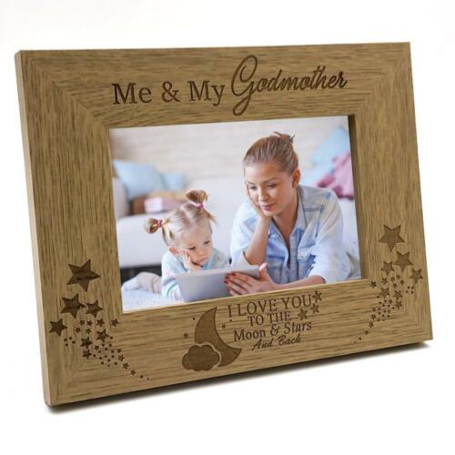 Me and My Godmother Love You To The Moon Photo Frame Gift FW216