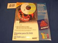 Avery CD Labels Matte White 40 Disc and 80 Spine 8692 Printer Office