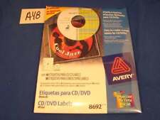 Avery CD Labels Matte White 40 Disc Labels and 80 Spine Labels 8692