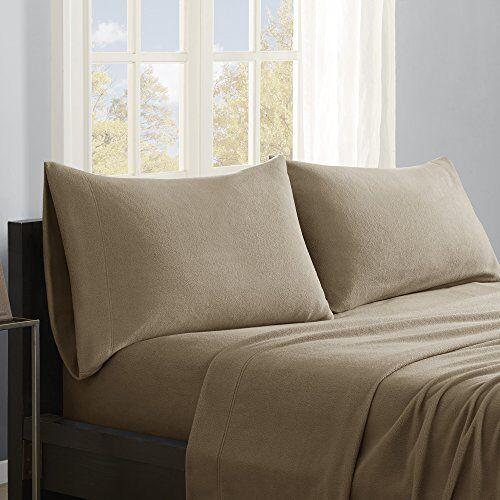 True North by Sleep Philosophy Micro Fleece California King Bed Sheets Set, Soft