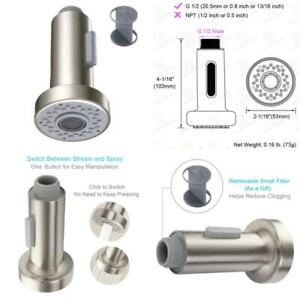 Kitchen Fixtures Chrome Pull Down Faucet Spray Head Angle Simple Kitchen Sink Faucet Sprayer Head Nozzle Pull Out Hose Sprayer Replacement Part Faucet Head Kitchen Tap Sprayer Spout Kitchen Bath Fixtures