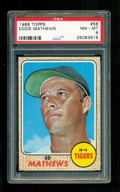 1968 Topps Eddie Mathews Detroit Tigers 58 Baseball Card
