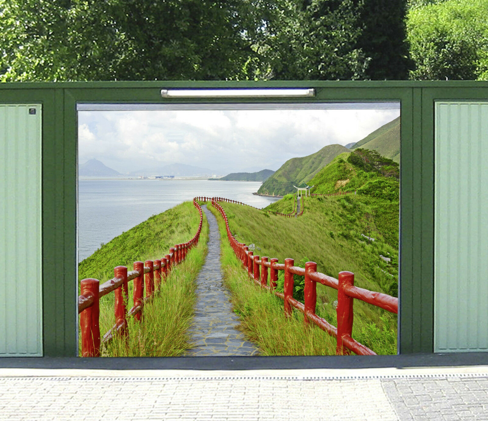 3D Seaside Road 97 Garage Door Murals Wall Print Decal Wall Deco AJ WALLPAPER IE