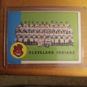 1963 Topps Cleveland Indians Team Card #451 -  VG+